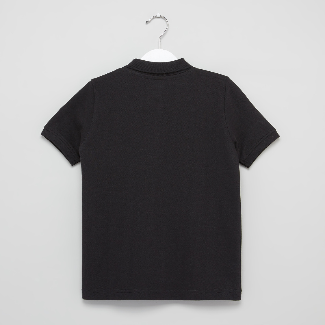 Solid Polo T-shirt with Short Sleeves