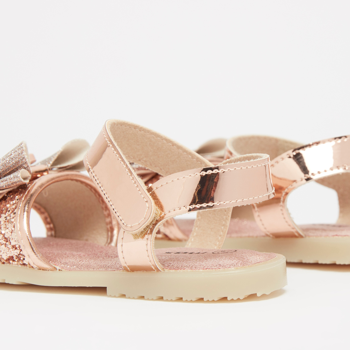 Embellished Sandals with Bow Applique