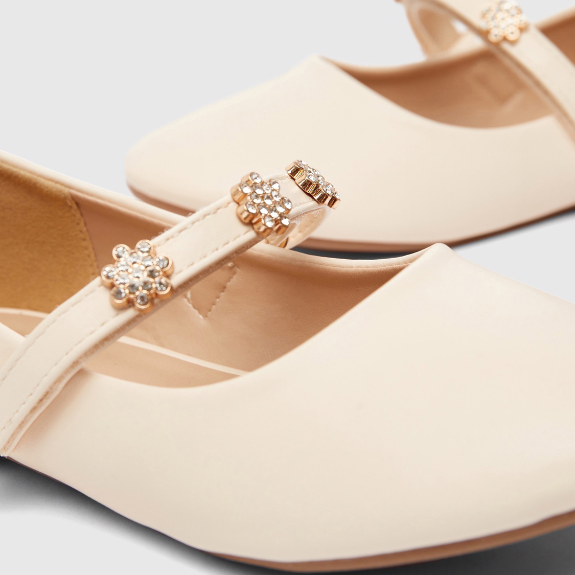 Embellished Shoes with Hook and Loop Closure