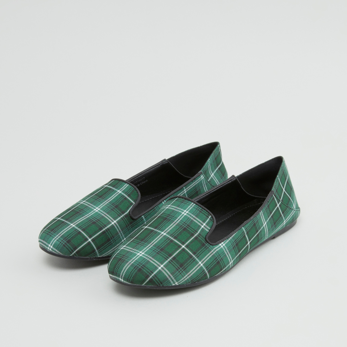 Checked Loafers with Slip-On Closure