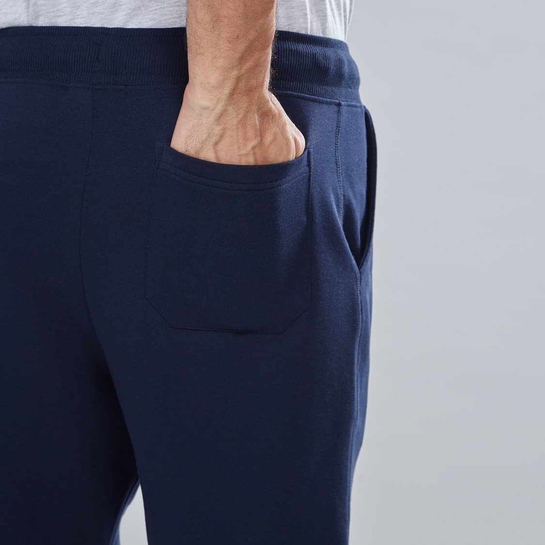 Pocket Detail Shorts with Elasticised Waistband and Drawstring