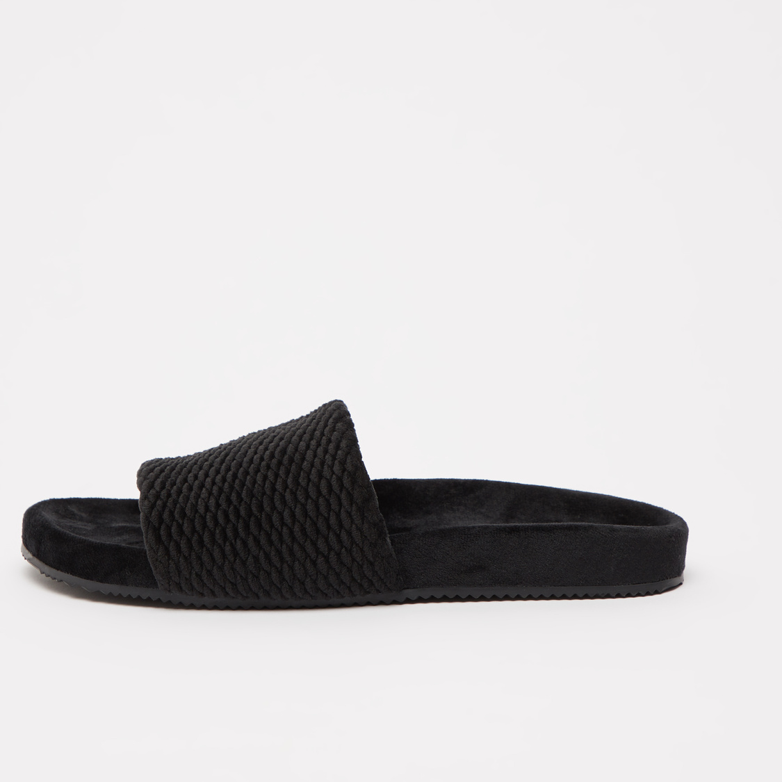 Textured Slip-On Bedroom Slides