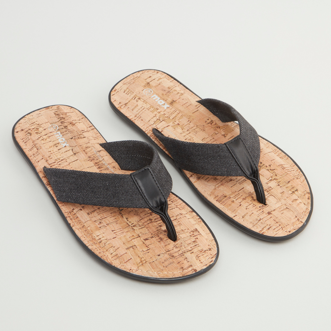 Textured Sandals with Wide Straps