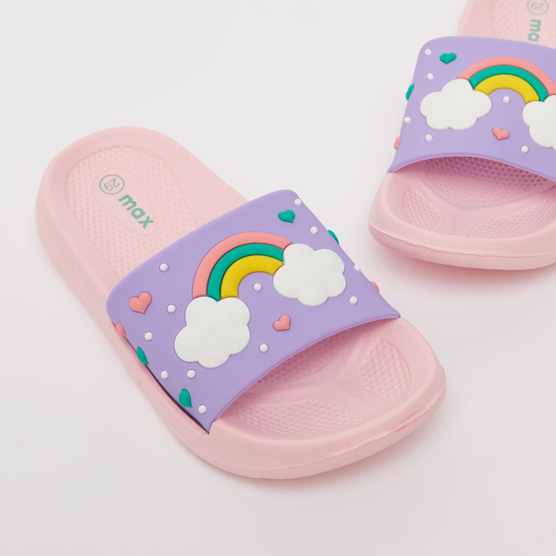 Rainbow Embossed Print Slides