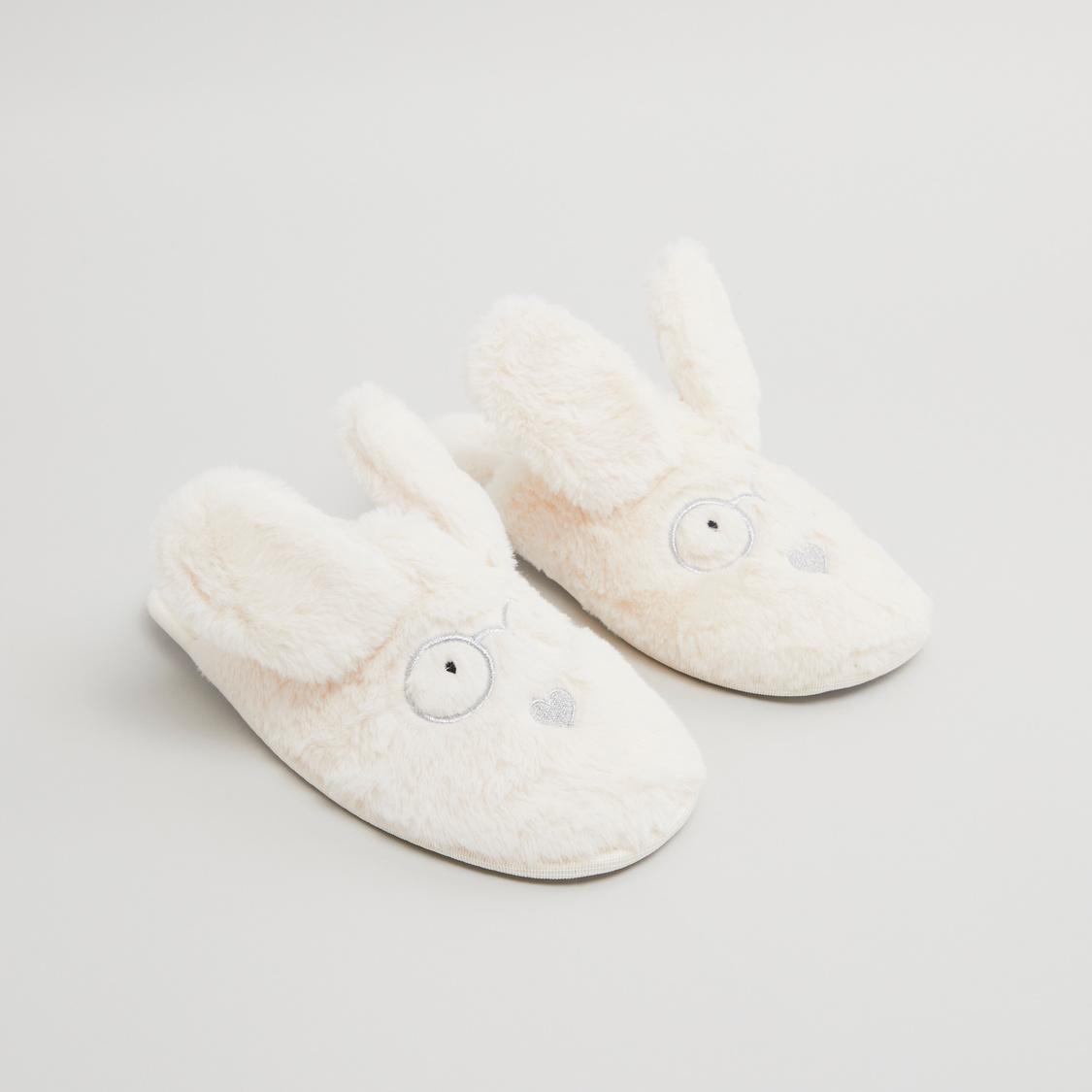 شبشب أرنب قطيفة لغرفة النوم