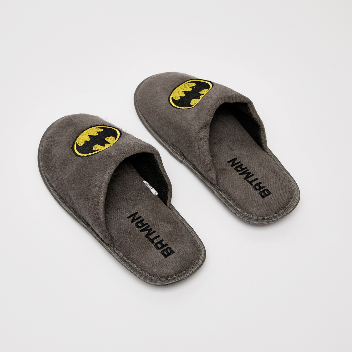 Batman Embroidered Closed Toe Bedroom Slippers