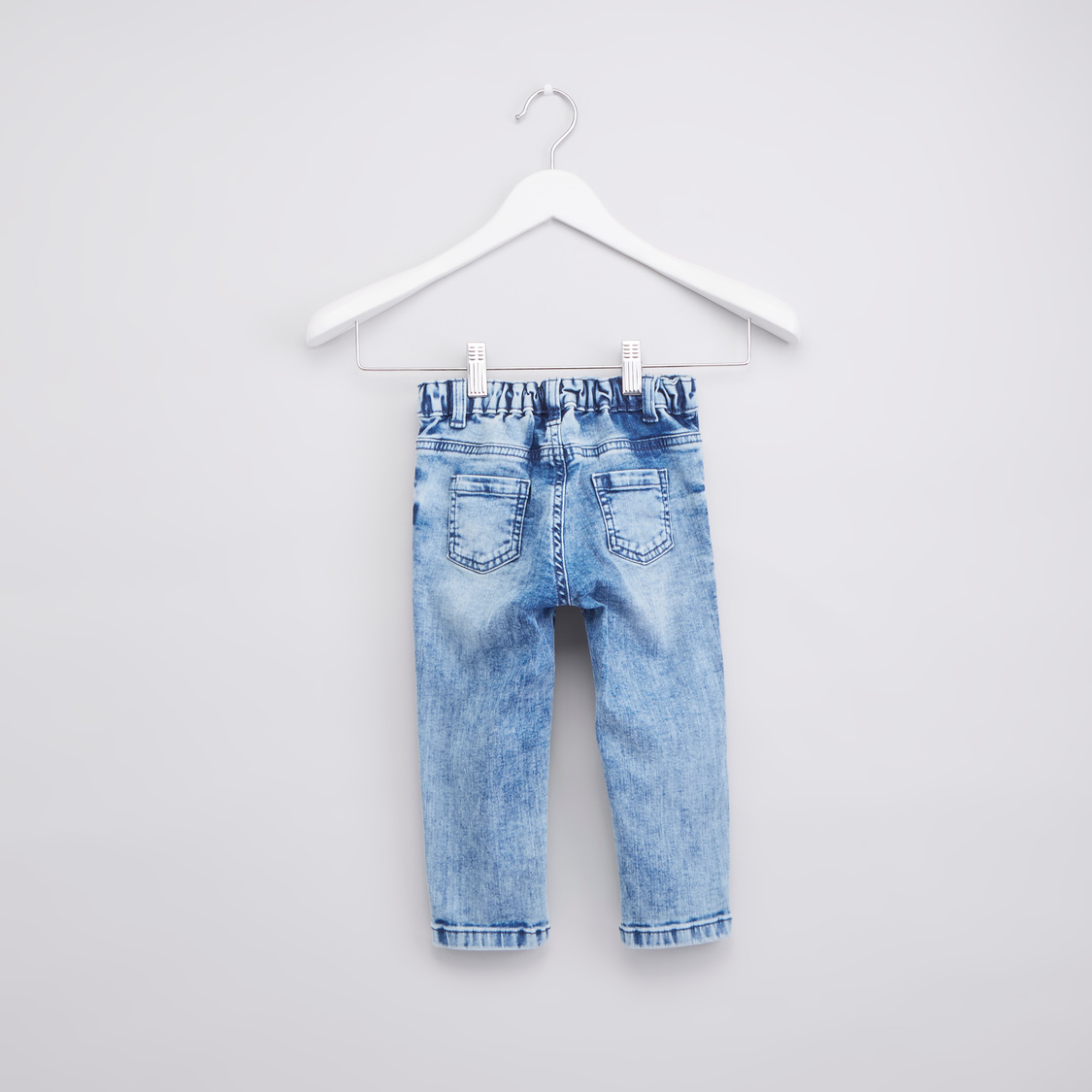 Embroidered Full Length Jeans with Pocket Detail and Belt Loops