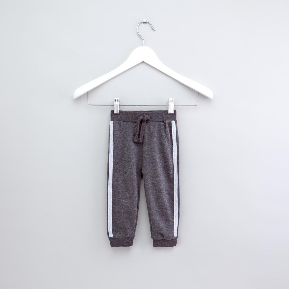 Tape Detail Jog Pants with Drawstring