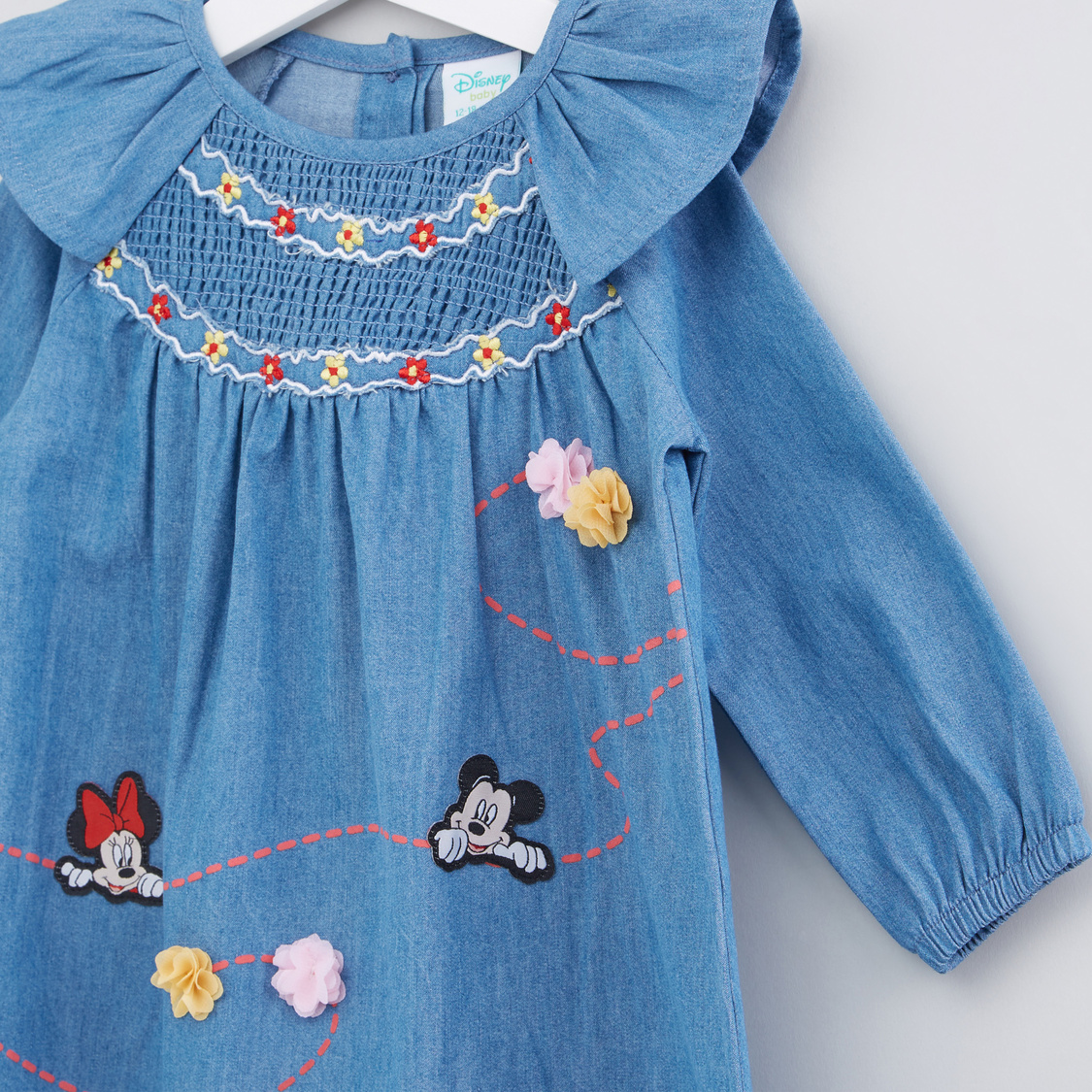 Mickey Mouse Applique Detail Dress
