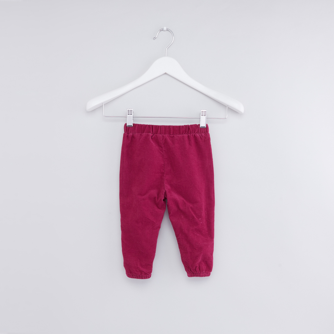 Textured Jog Pants with Elasticised Waistband and Bow Detail