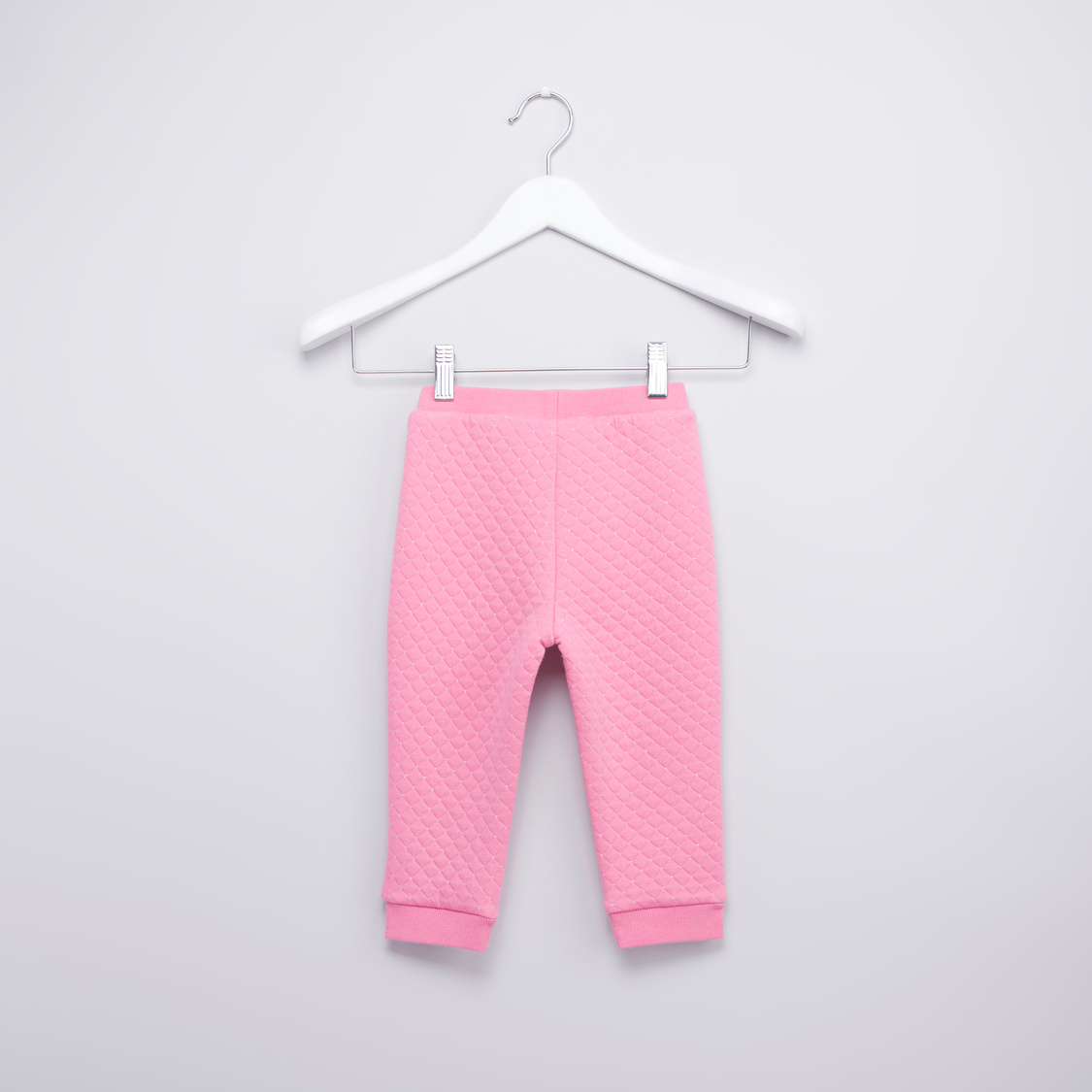 Full Length Quilted Jog Pants with Pocket Detail