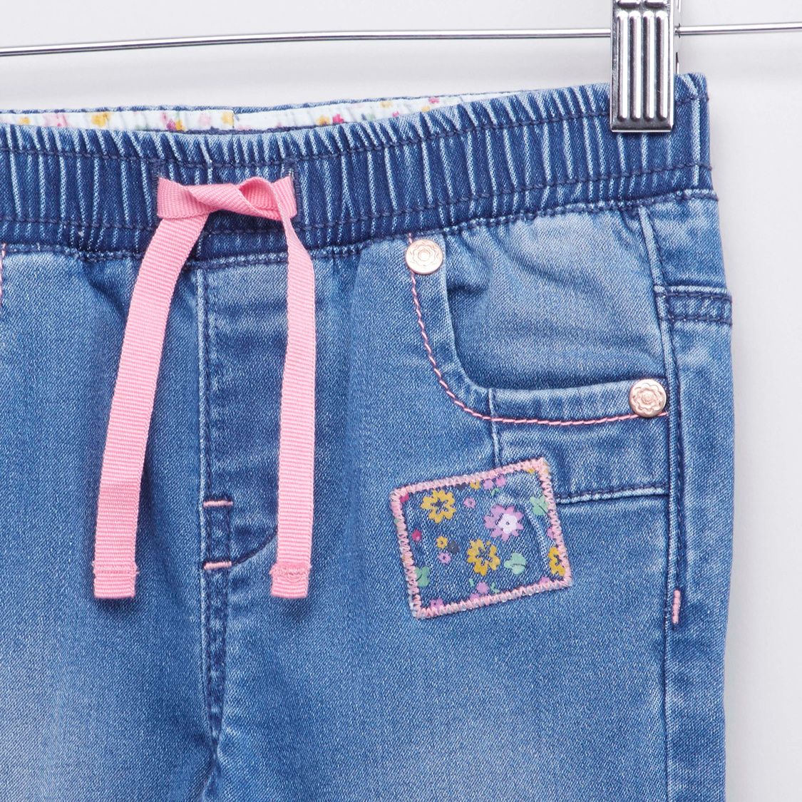 Pull-On Jegging with Applique Patches