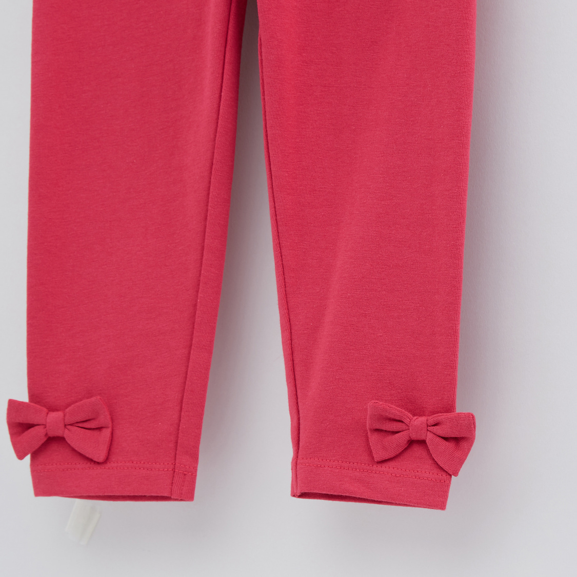 Full Length Leggings with Elasticised Waistband and Bow Appliques
