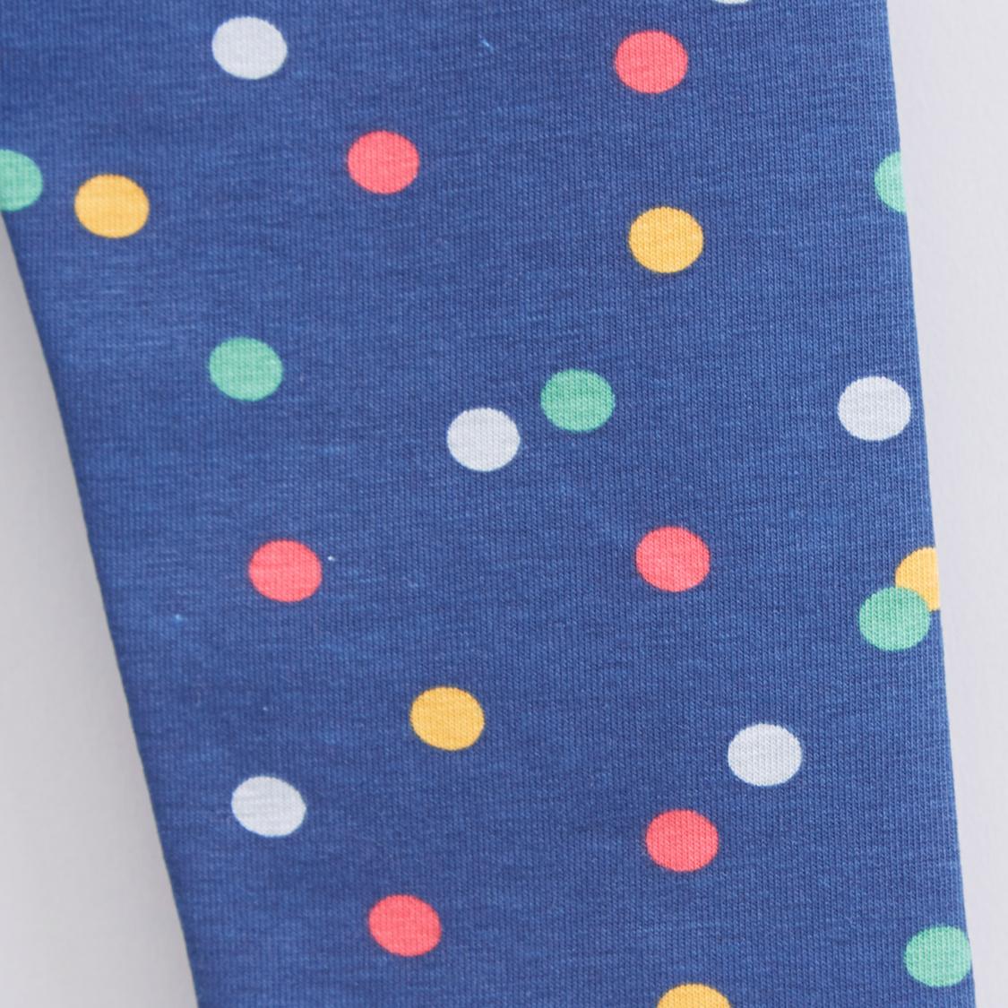 Polka Dot Printed Leggings with Elasticised Waistband