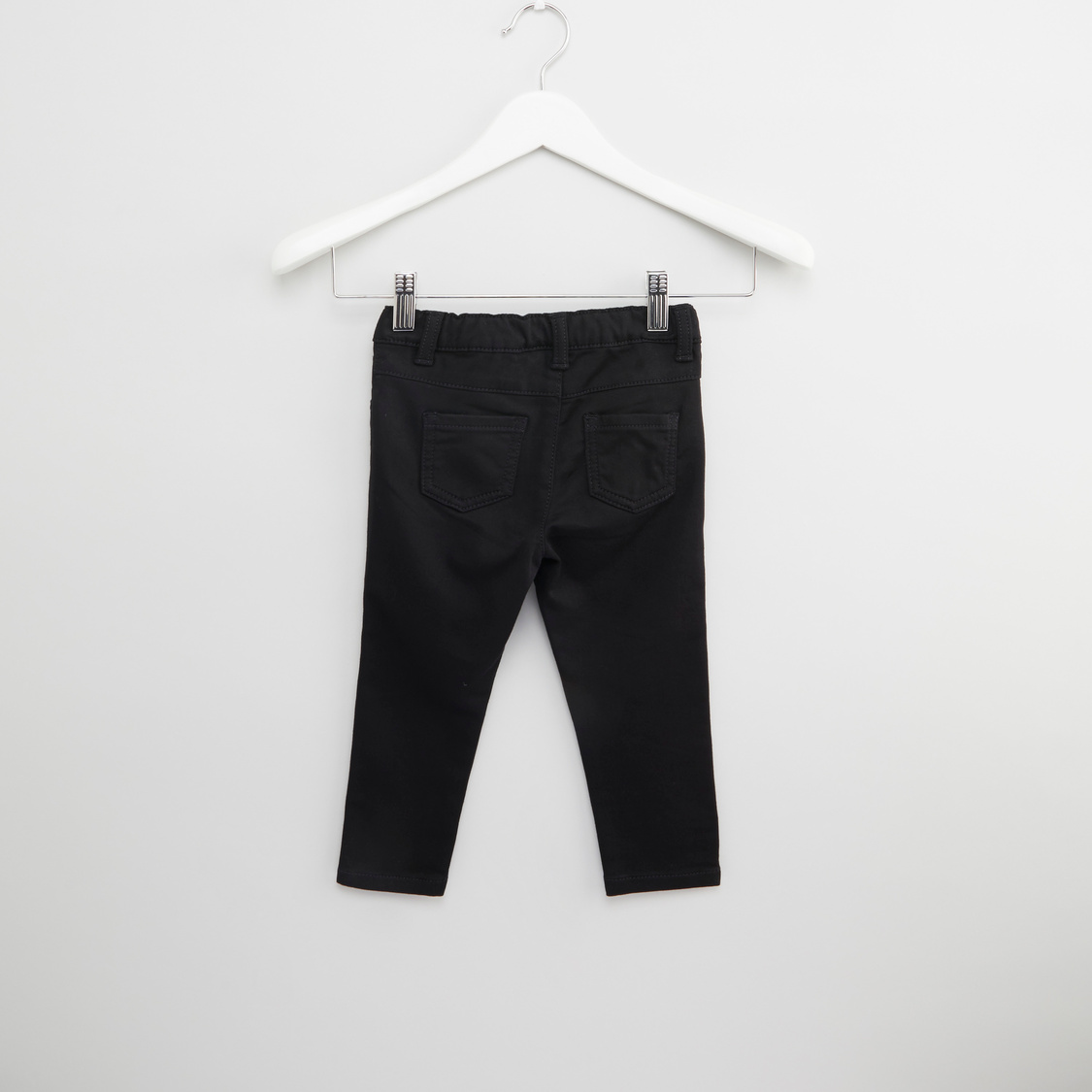 Plain Pants with Pocket Detail and Belt Loops