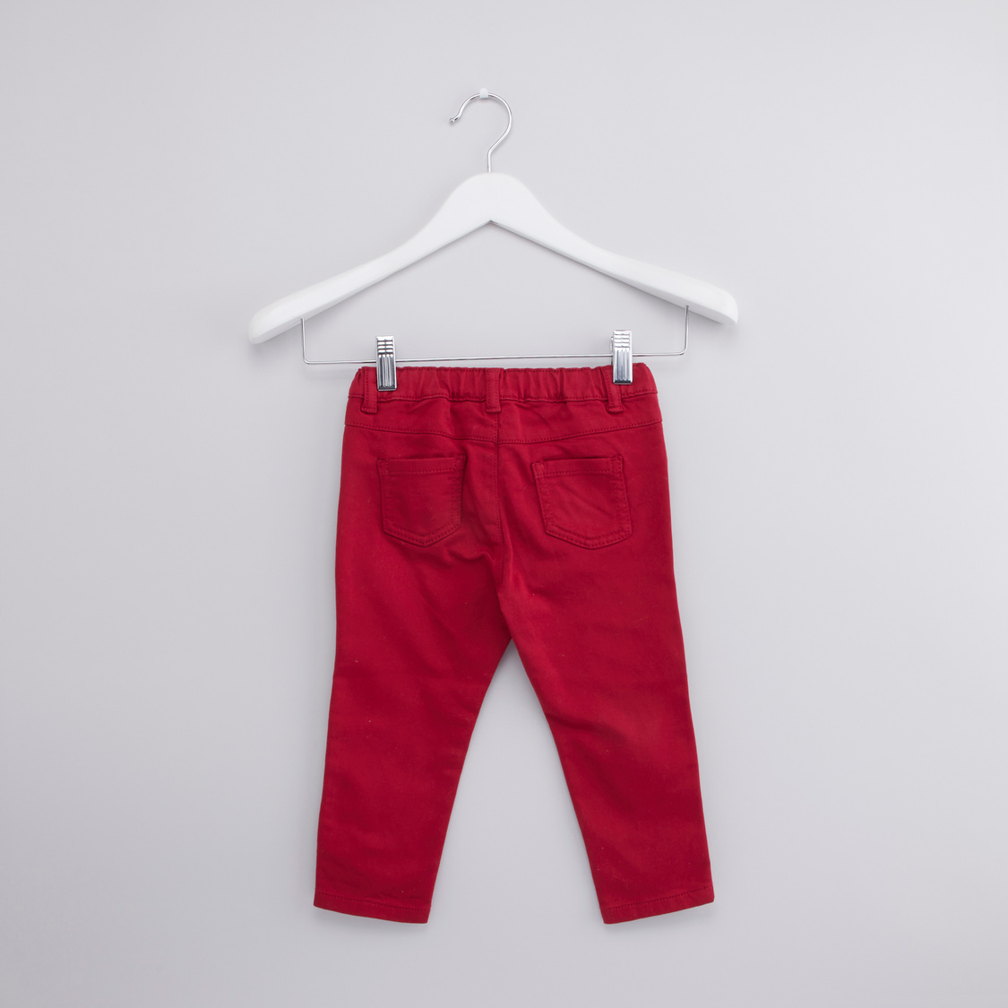 Full Length Plain Trouser with Pocket Detail and Belt Loops