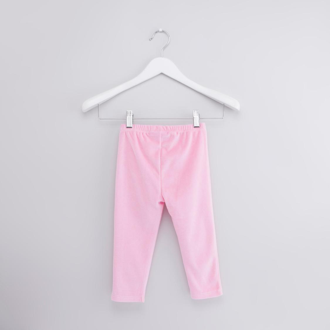 Hello Kitty Printed Long Sleeves T-shirt with Full Length Pyjamas