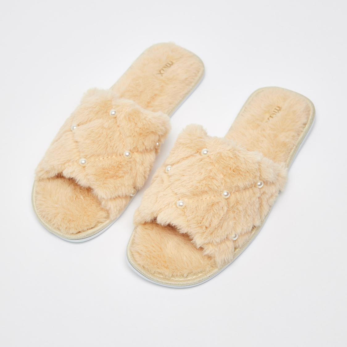 Textured Slip-On Bedroom Slippers