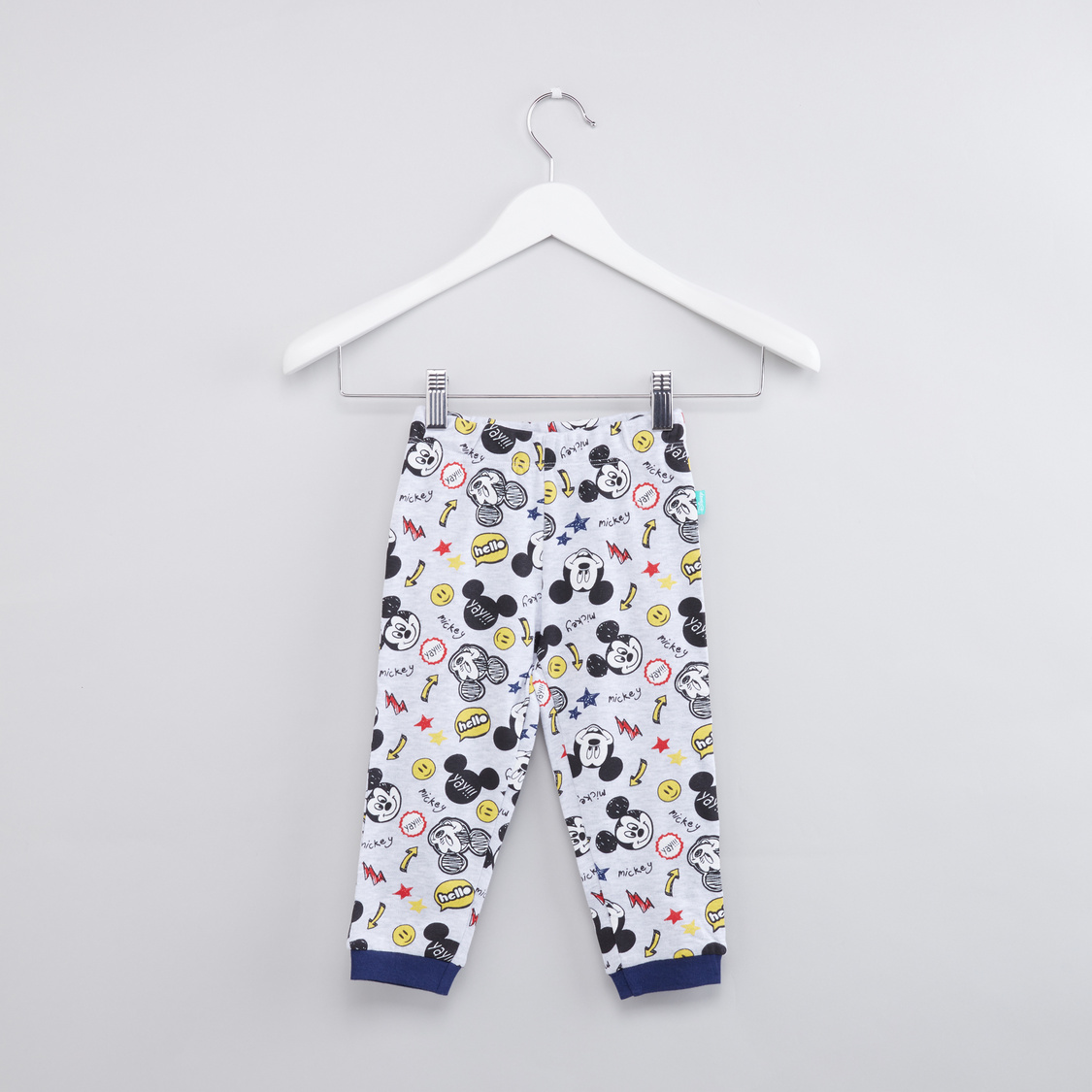 Mickey Mouse Printed Long Sleeves T-Shirt with Jog Pants