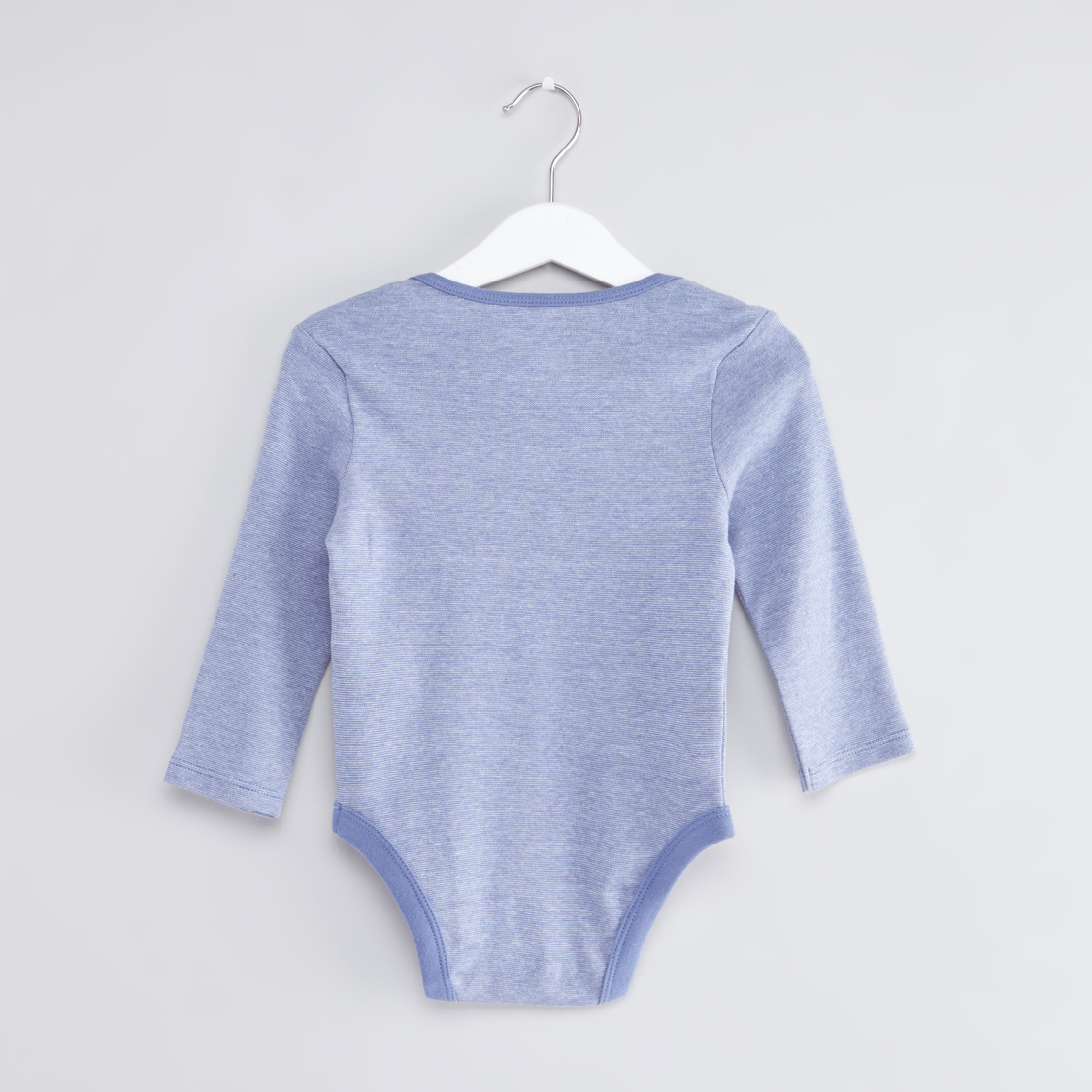 Set of 3 - Striped Bodysuit with Long Sleeves