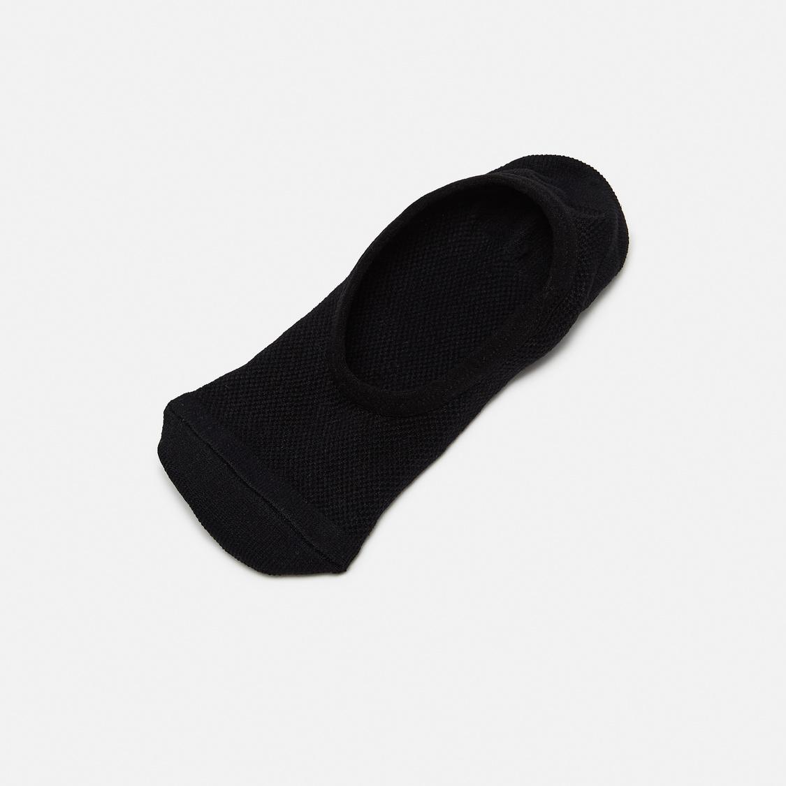 Set of 5 - Textured No Show Socks