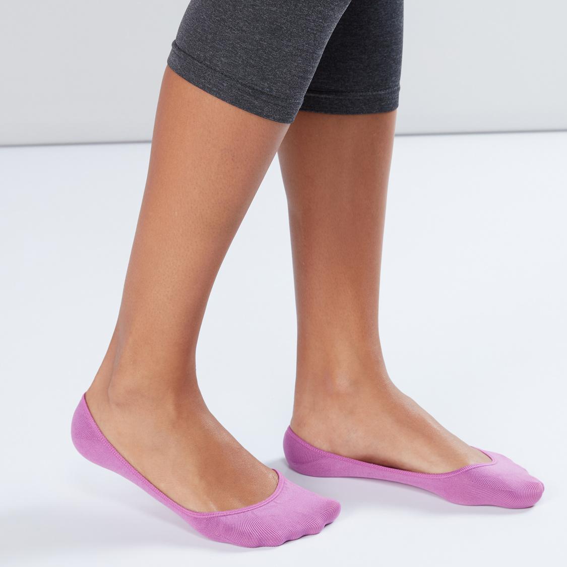 Textured No Show Socks - Set of 5