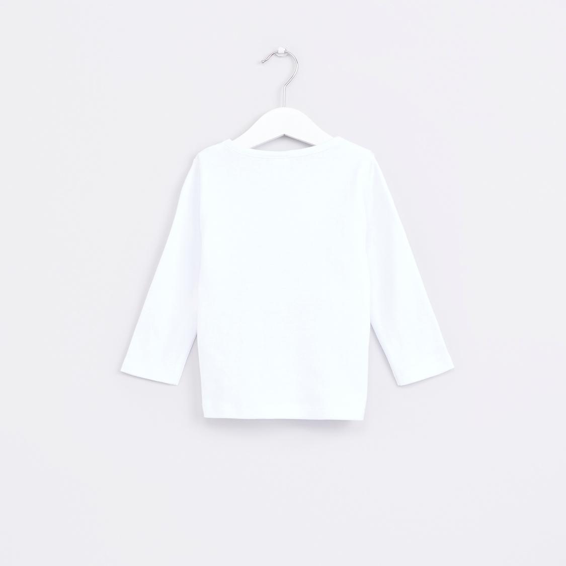 Owl Printed Long Sleeves T-Shirt with Jog Pants