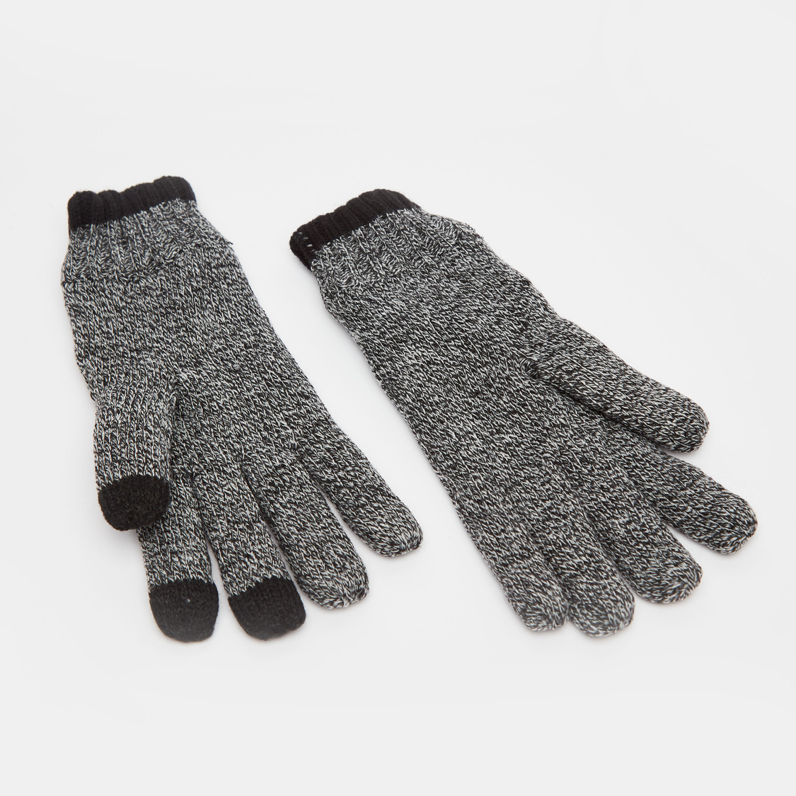 Textured Woolen Gloves