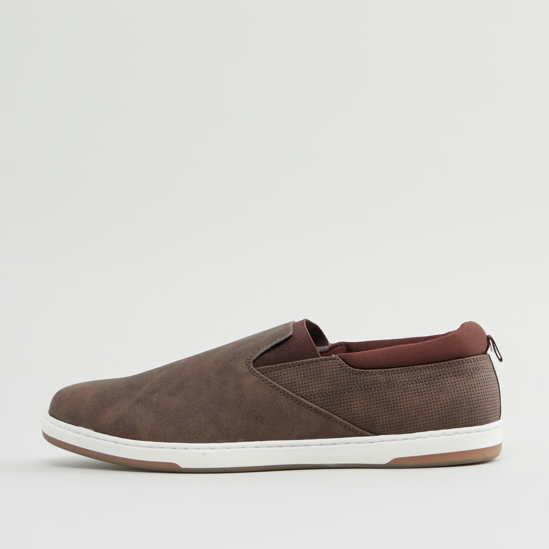 Textured Slip-On Loafers