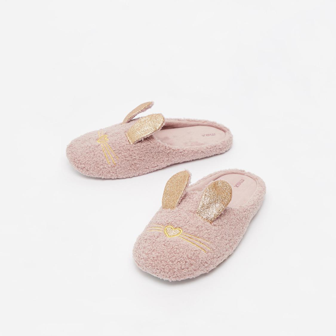 Rabbit Applique Bedroom Slippers