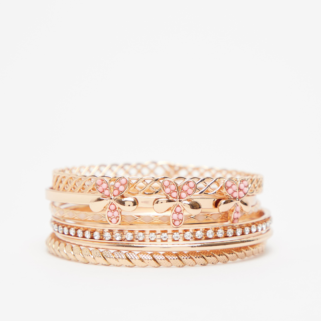 Set of 6 - Embellished Bangles