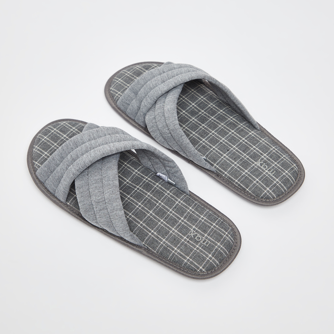 Solid Open Toe Bedroom Slippers