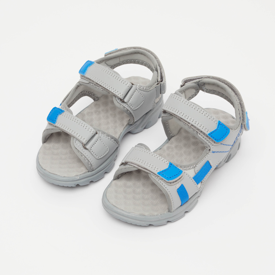 Cutout Sandals with Hook and Loop Closures