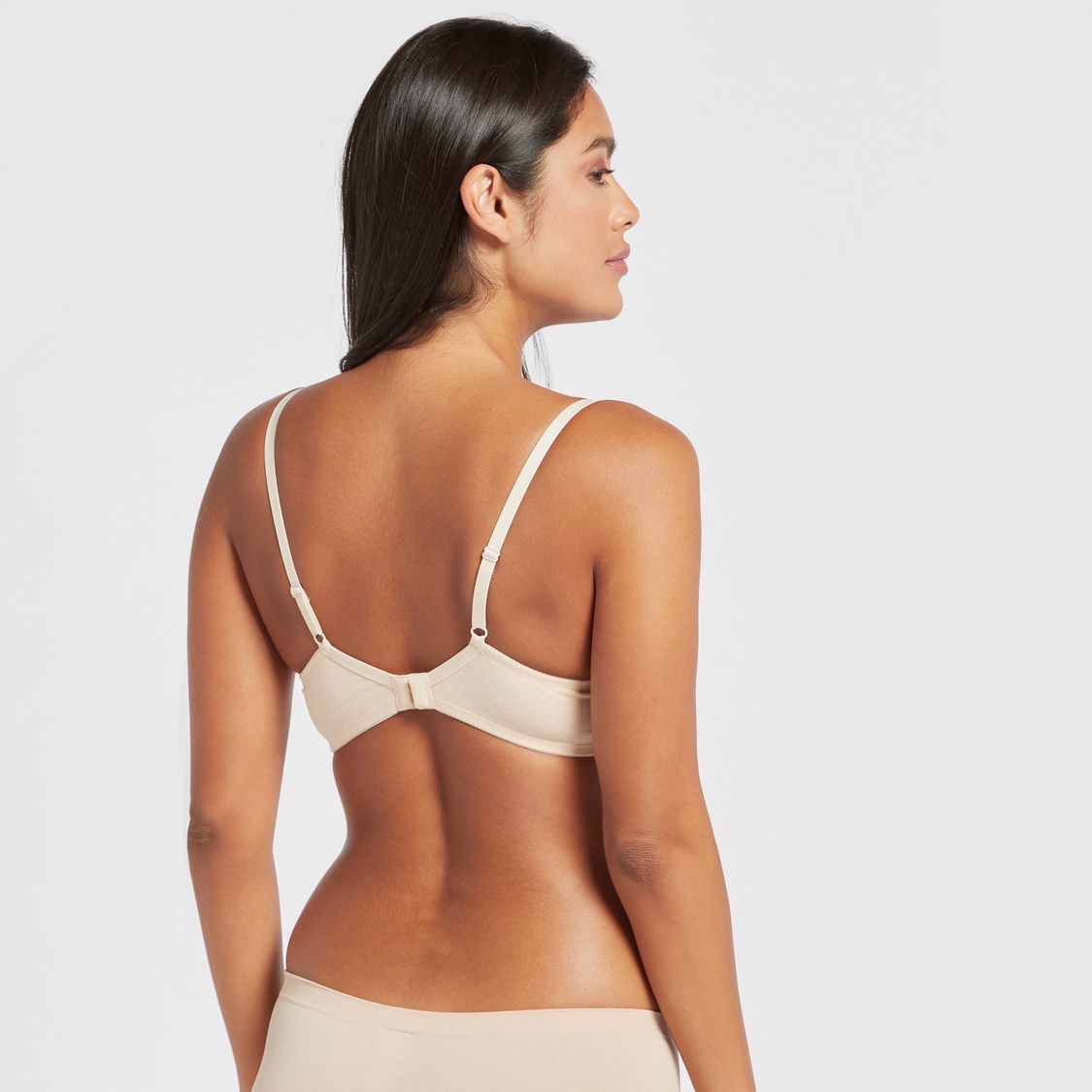 Set of 2 - Lace Detail Bra with Hook and Eye Closure