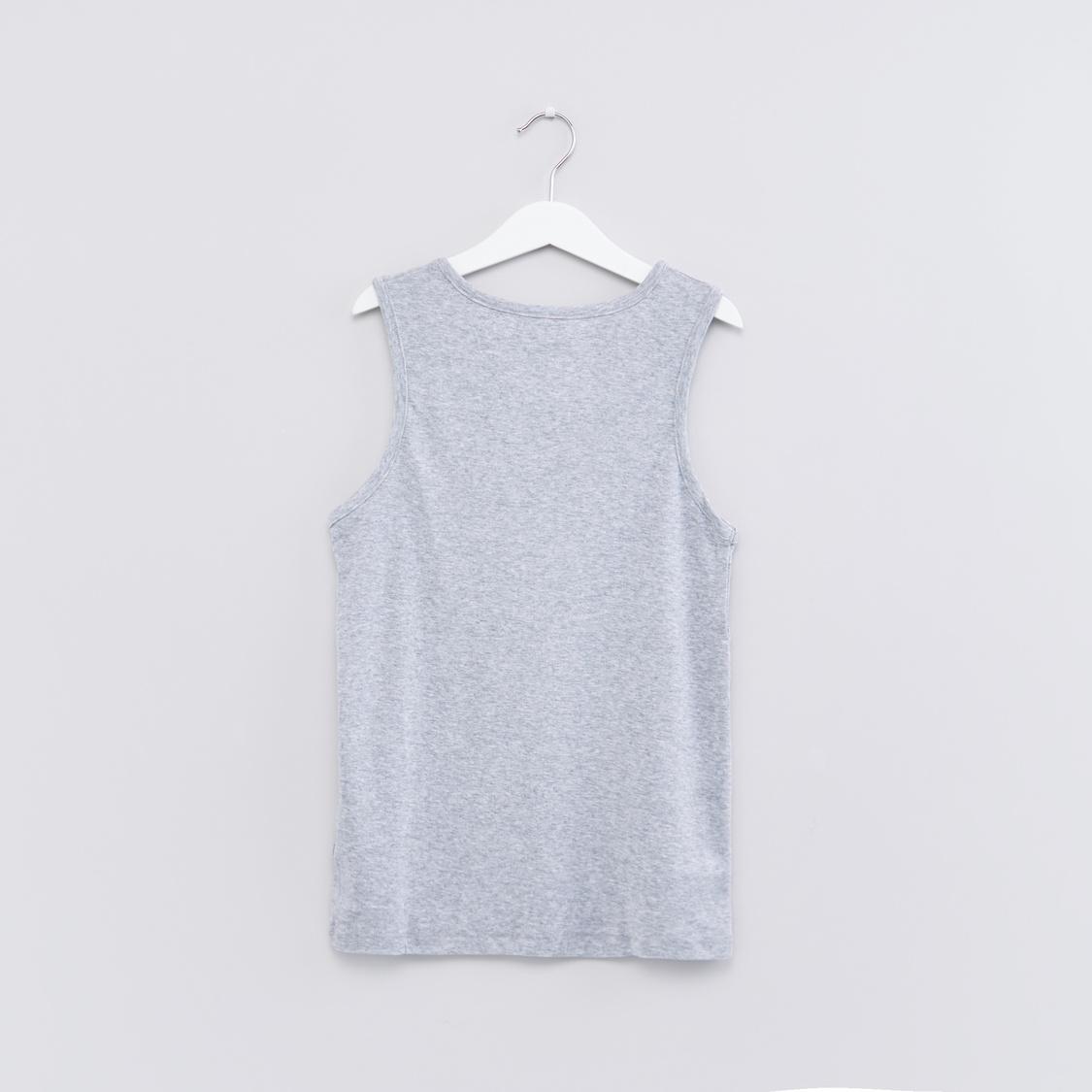 Sleeveless Vest with Scoop Neck