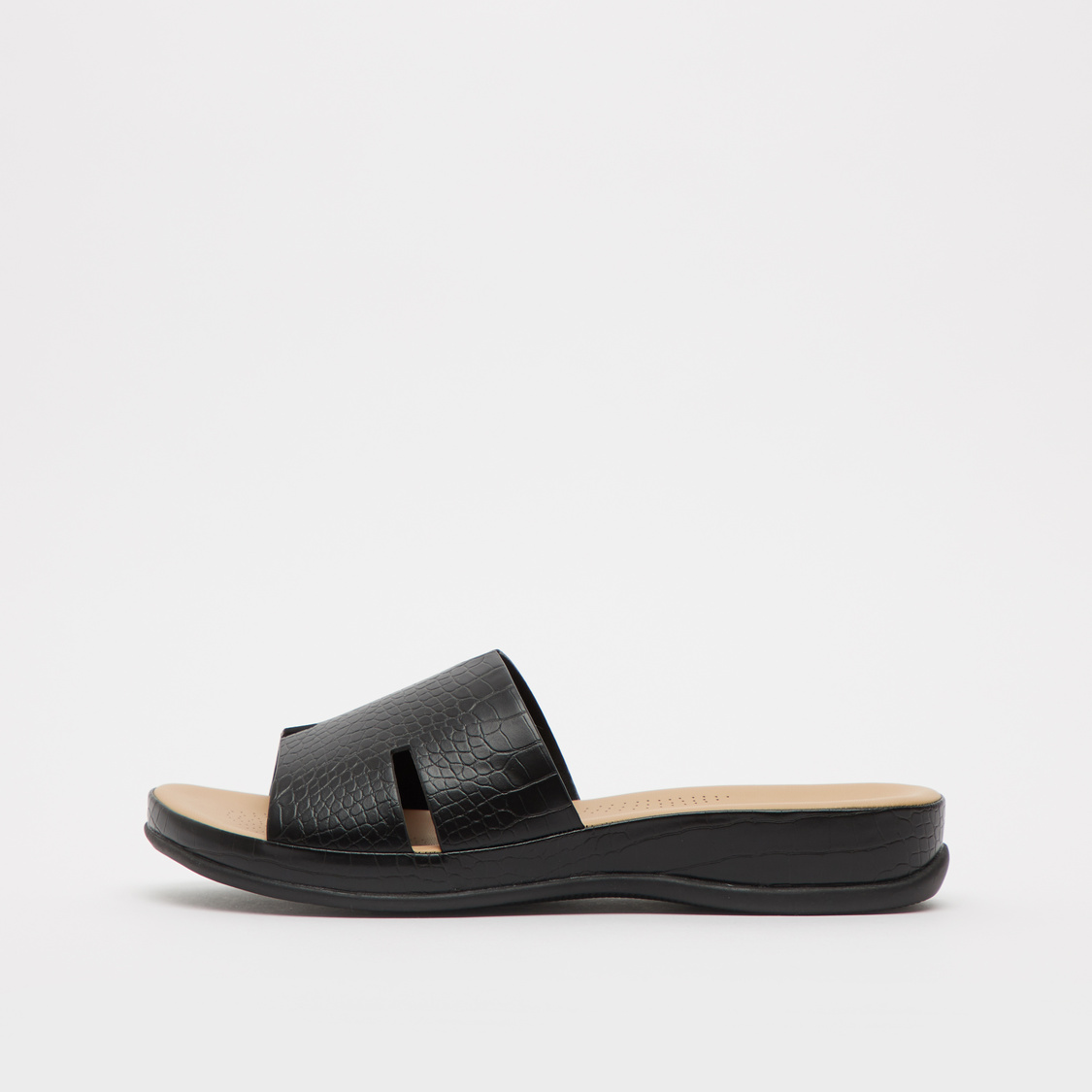 Textured Sandals with Vamp Band