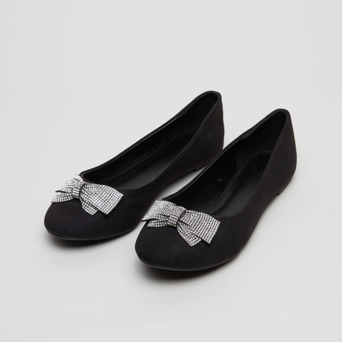 Bow Applique Ballerina Shoes