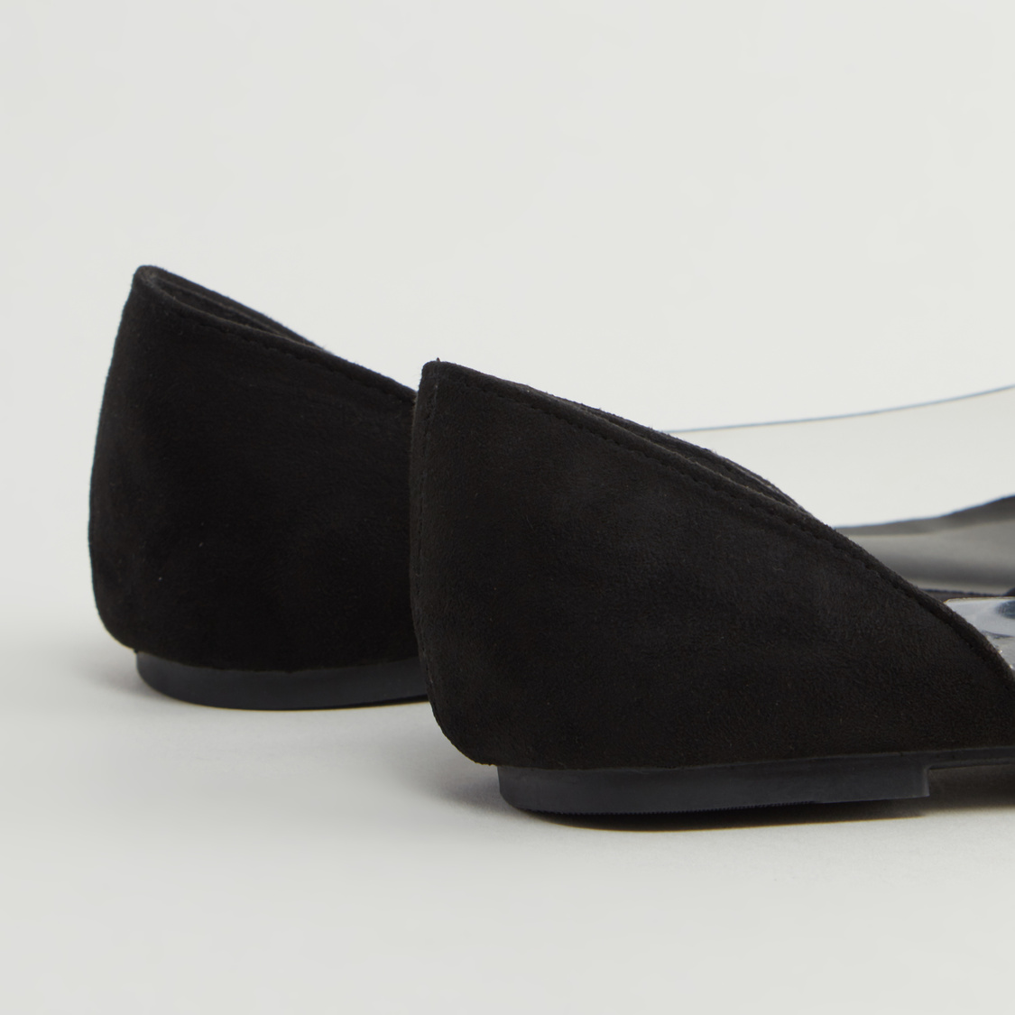 Textured Slip-On Shoes with Tapered Toe Cap