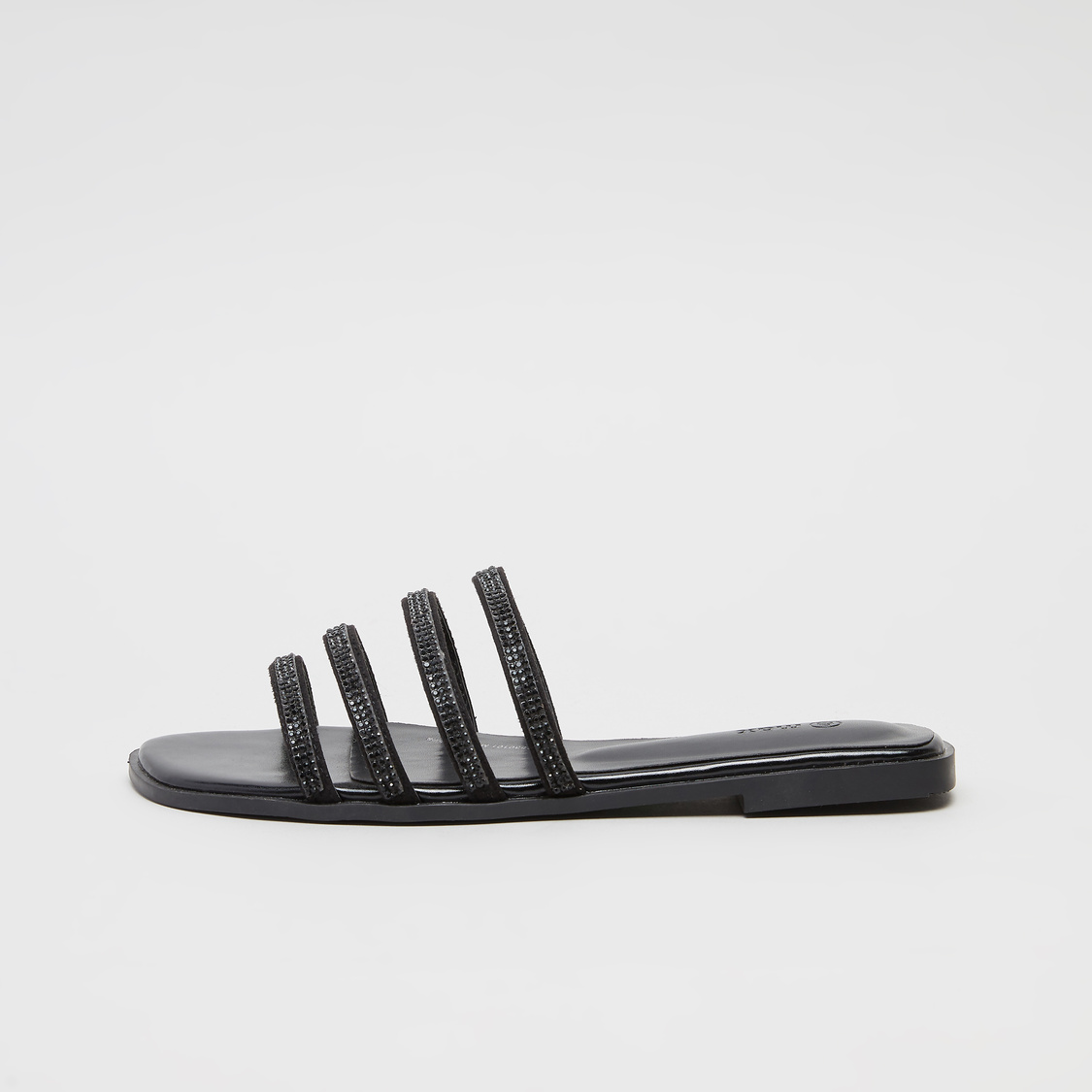 Textured Slides with Studded Straps
