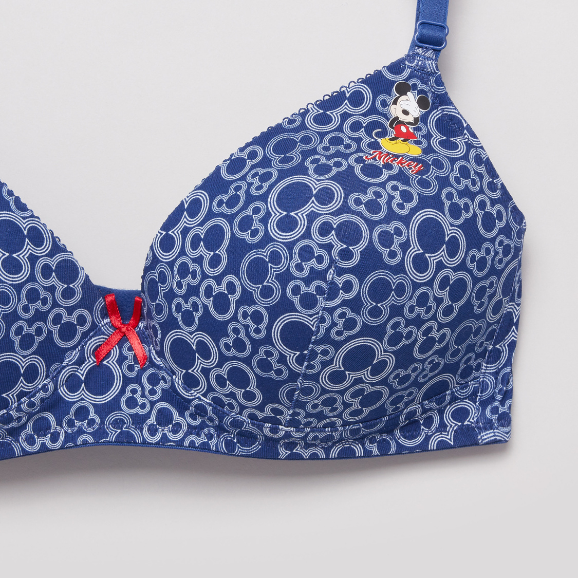 Printed T-shirt Bra with Hook and Eye Closure