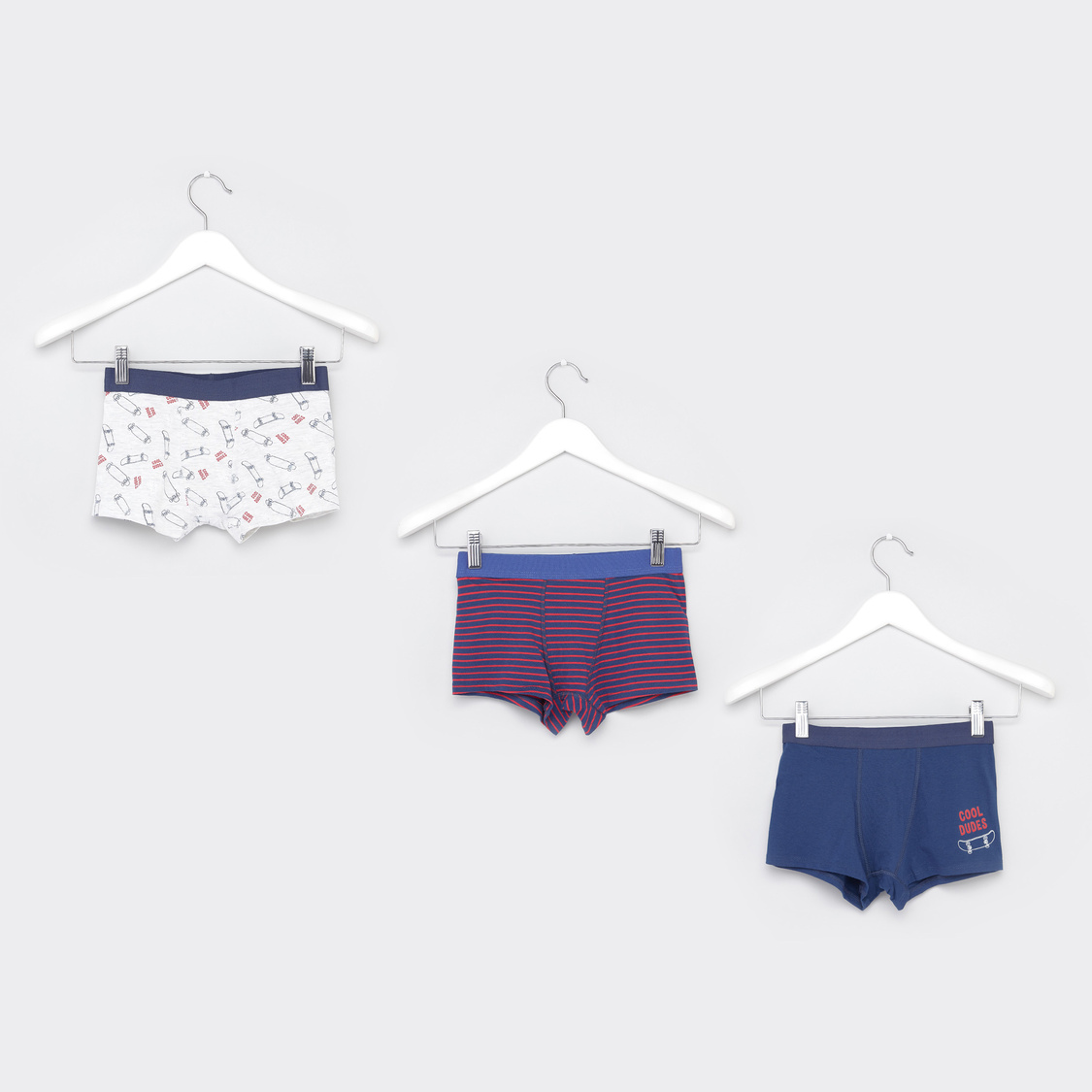 Set of 3 - Assorted Prints Briefs with Elasticised Waistband