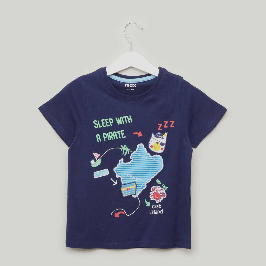Printed Short Sleeves T-shirt with Jog Pants