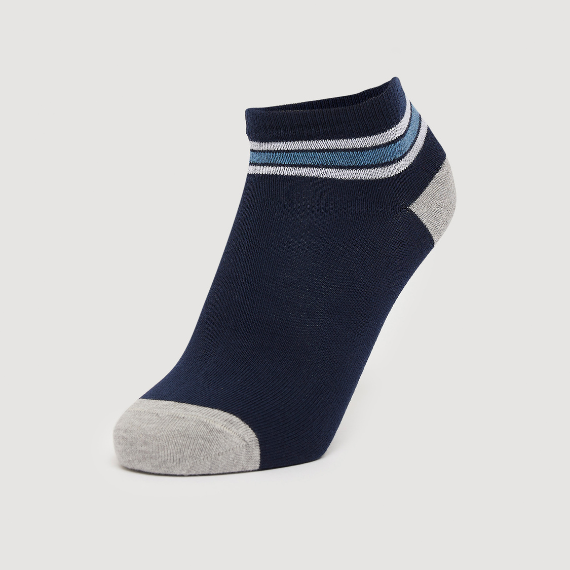Set of 5 - Ankle Length Socks with Elasticated Hem