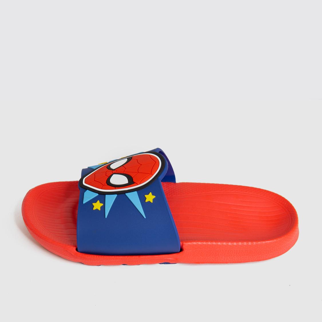 Spider-Man Print Slides with Vamp Band