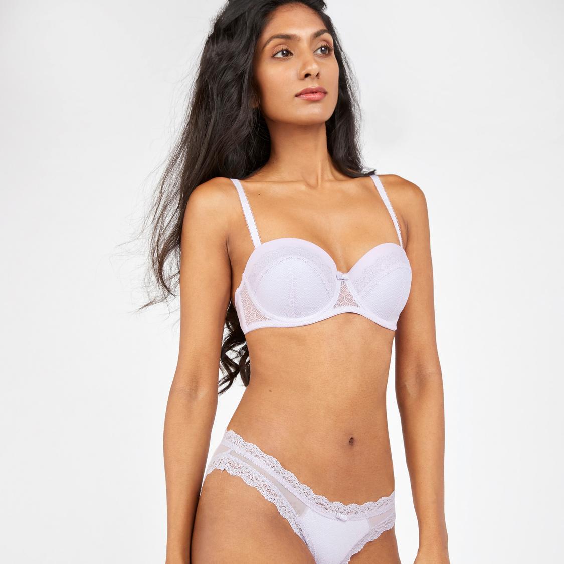 Set of 2 - Textured Bikini Briefs with Elasticised Waistband
