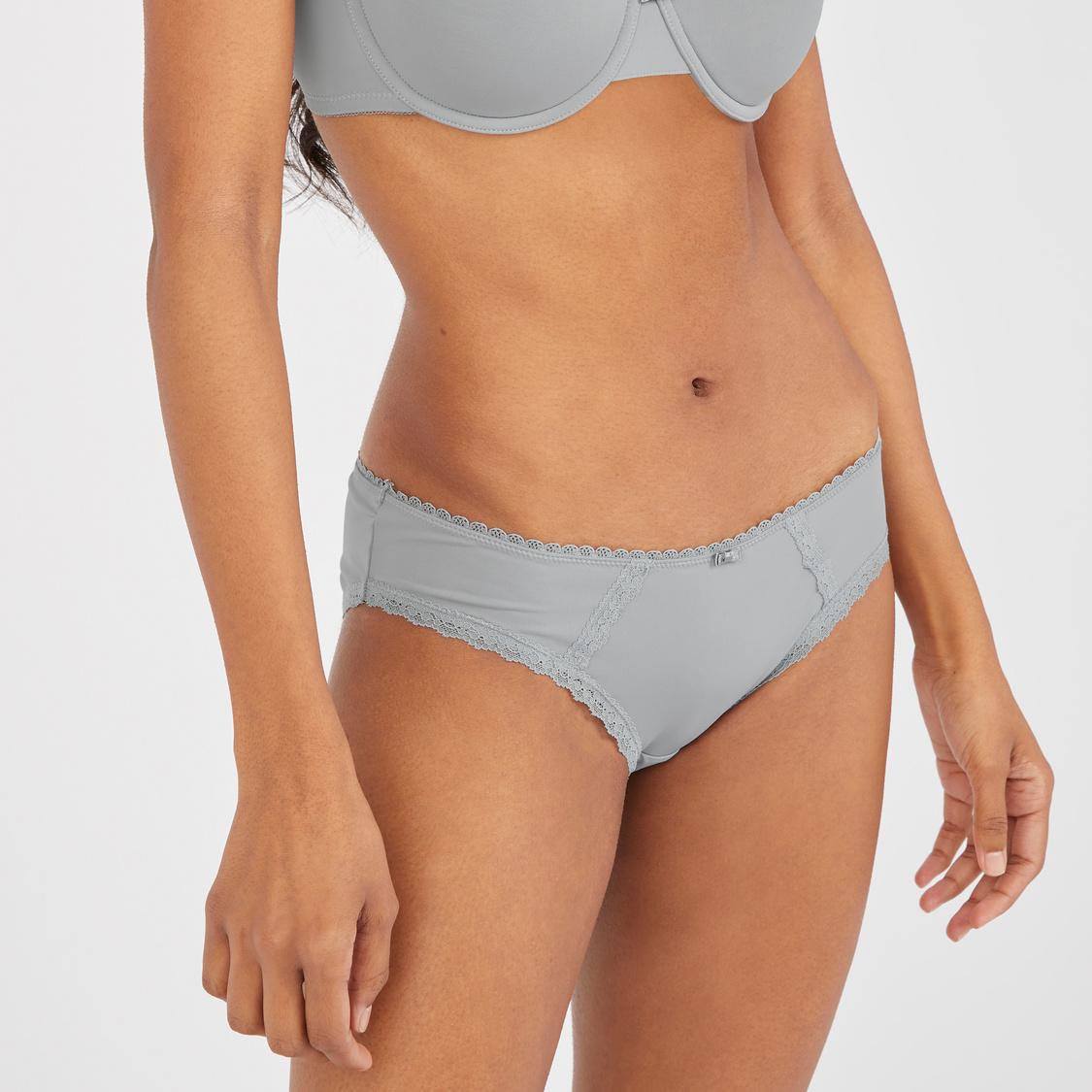 Set of 2 - Assorted Bikini Briefs with Bow Applique