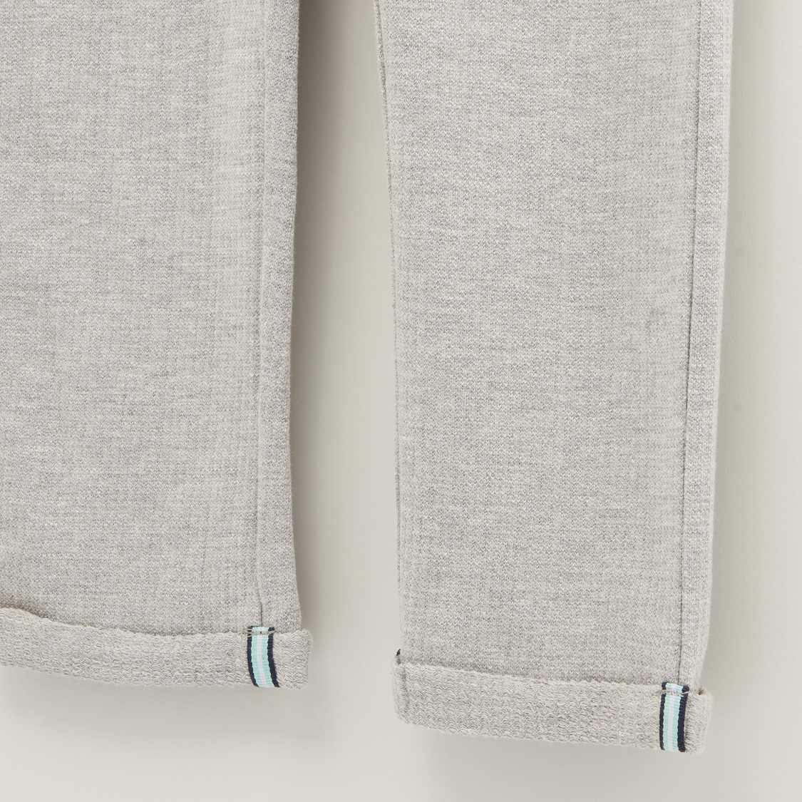 Embroidered Joggers with Pockets and Drawstring Closure