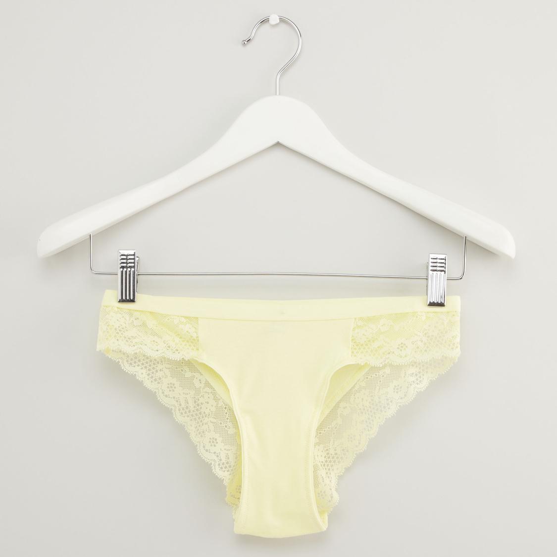 Solid Lace Bikini Briefs