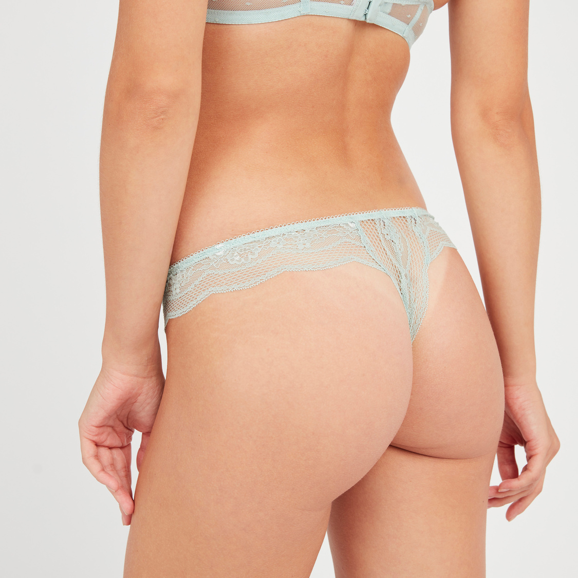 Lace Thong with Elasticised Waistband