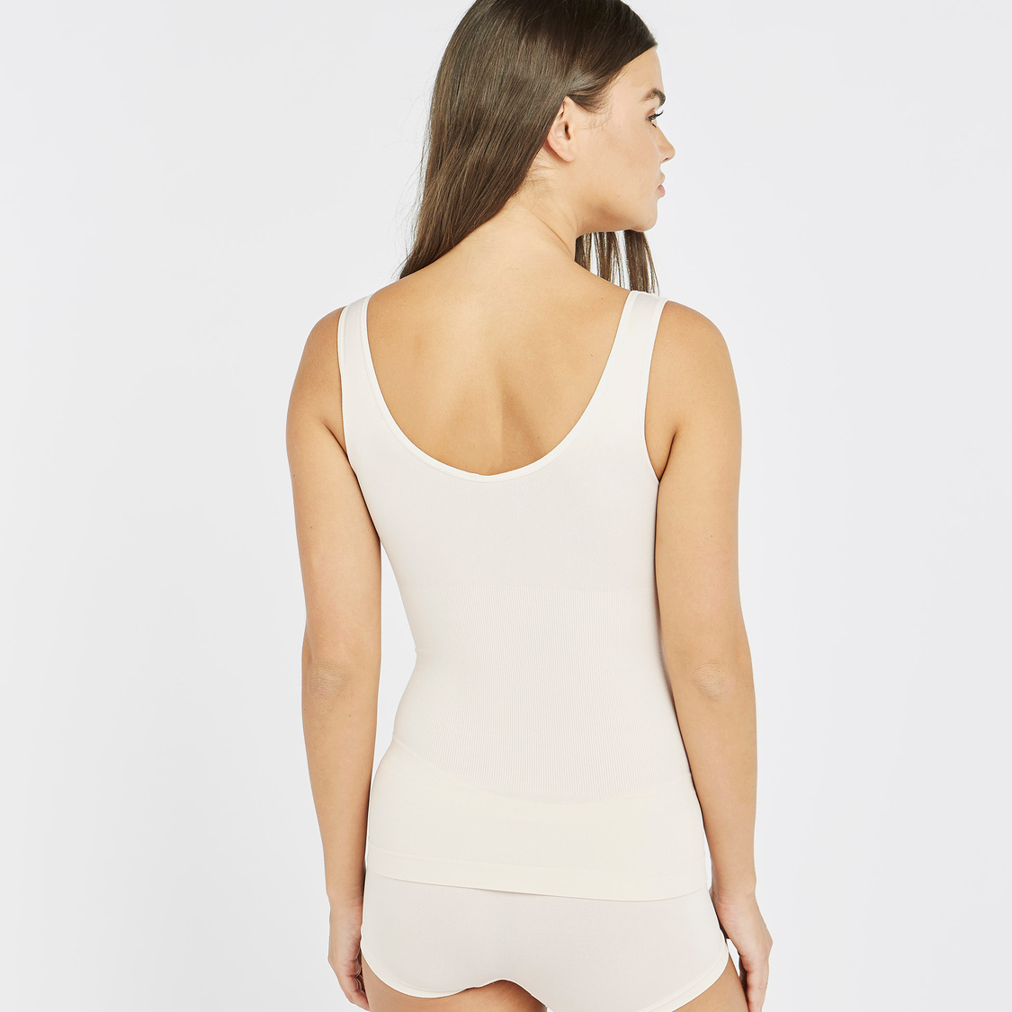 Textured Shaping Vest with Scoop Neck